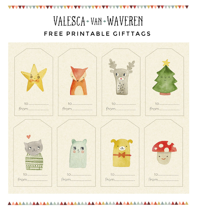graphic about Free Printable Gift Tags Christmas identify Absolutely free PRINTABLE Present TAGS Valesca van Waveren Artwork +