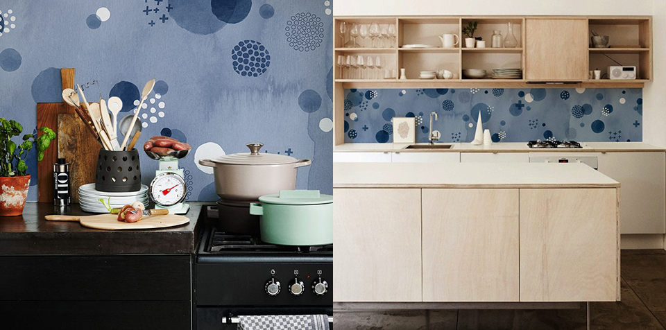 indigo kitchen walls valesca van waveren