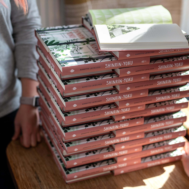 pile of books - shinrin-yoku